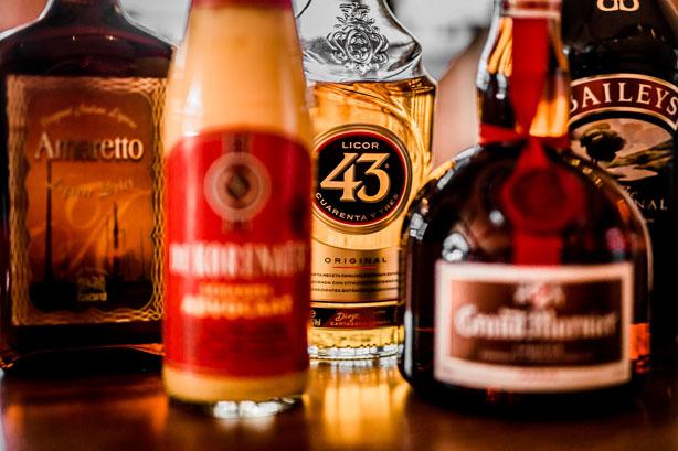 Trouwlocatie Sfeerfoto diverse alcoholische dranken